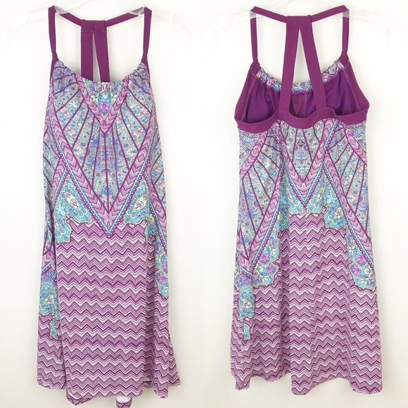 b7f3f5e3244 Prana Quinn Dress Purple Aztec Paisley  A93 . M 5ab24cab9cc7efa87b86c180